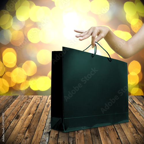 Shopping in holiday sell festival concept