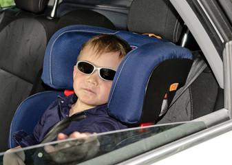 Little boy in trendy sunglasses