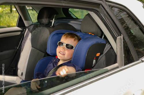 Little boy in trendy sunglasses