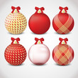 Red and gold ornament set