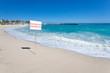 baignade interdite, plage des Roches Noires, Réunion