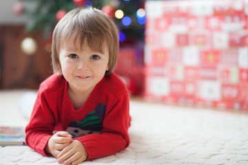 Little boy in christmas