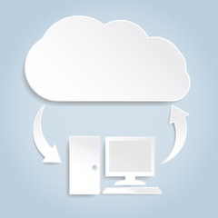 Paper cloud computing concept