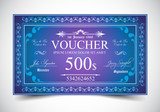 Elegant Voucher Design for 500 dollars payment.