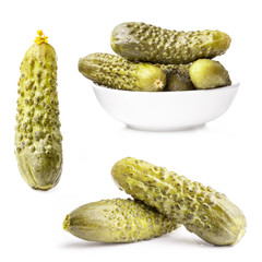 Gherkin (Pickles) isolated on white background