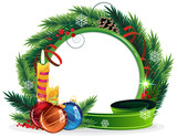 Christmas Wreath with candles and baubles