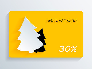 Christmas Discount Card with Christmas Tree