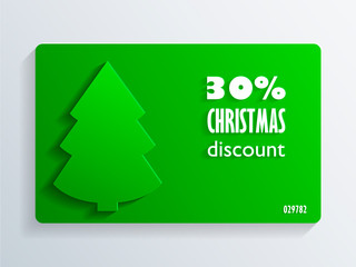 Christmas Discount Card with a fir-tree