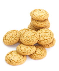 tasty cookies on a white background