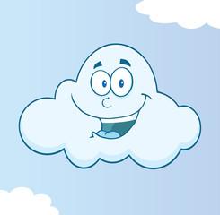 Smiling Cloud Cartoon Character
