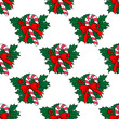 Christmas candy stick seamless pattern