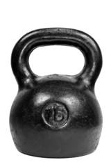 Black 16 kg kettle bell