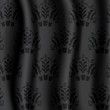 Damask fabric black