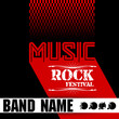 Music rock festival design template