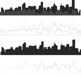 siluete of city
