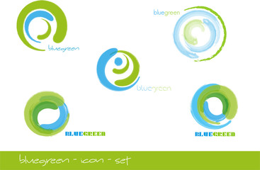 bluegreen icon set
