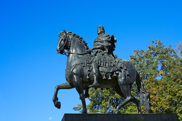 Saint-Petersburg, the statue of Peter I