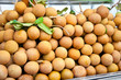 Longan fruit on the market,  Saigon, Vietnam.