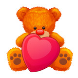 gift red teddy bear