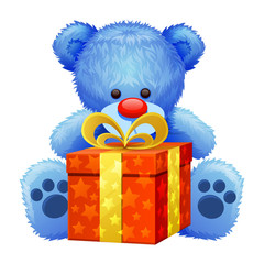 gift blue teddy bear