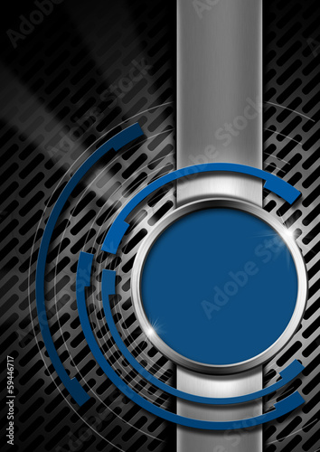 Blue and Metal Abstract Background