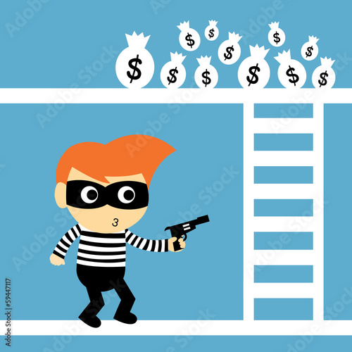 steal vector cartoon