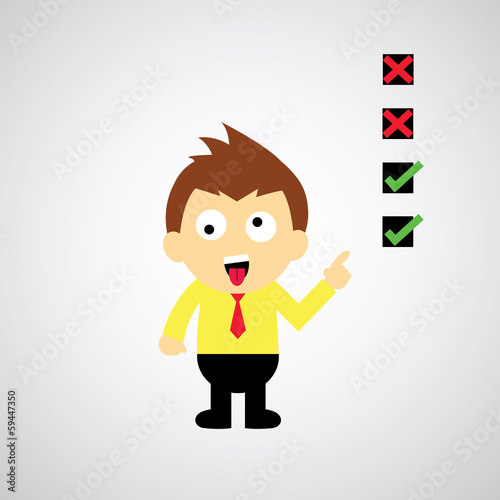 checklist vector cartoon