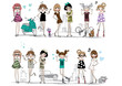 fashion girl set - 59447568
