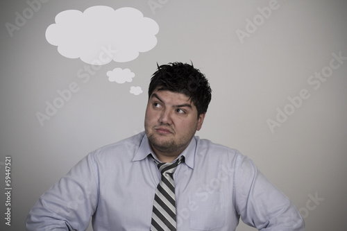 A Businessman Thinks About Something