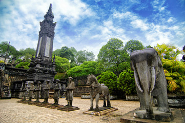 Tomb of Khai Dinh emperor, Hue, Vietnam.