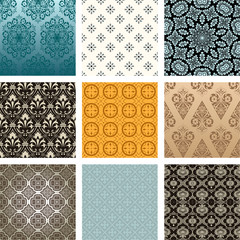 Vector. Retro pattern set