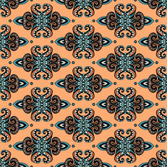 Tribal ethnic seamless vector pattern