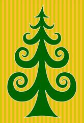 Frohe Weihnachten | Christbaum grün