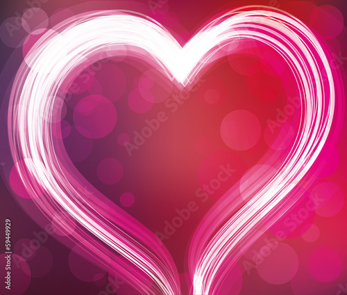 Abstract background with a heart.