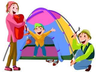 キャンプ アウトドア 家族