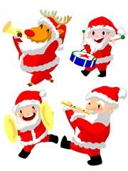 クリスマス サンタの行進パレード