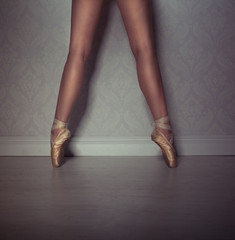 Legs of a ballet dancer