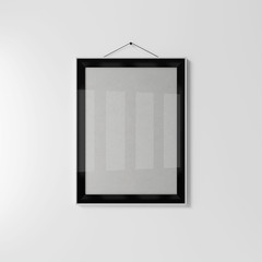 Empty black frame