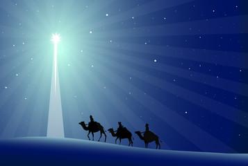 Wise Men Nativity - vector