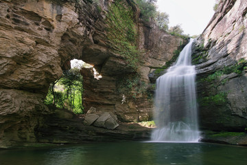 Waterfall known as Foradada