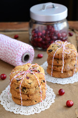 Cookies and red and white twine spool