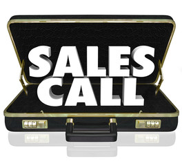 Sales Call Open Briefcase Selling Presentation Proposal