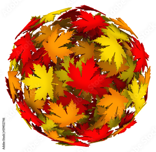 Leaves Changing Color Autumn Fall Leaf Ball