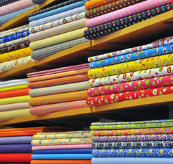 Heap of cloth fabric
