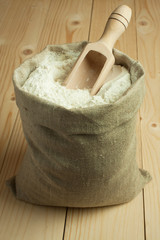 Flour in canvas bag
