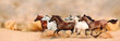 Herd gallops in the sand storm - 59454302