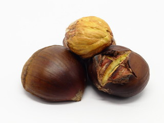 Roasted chestnuts with excluded seed