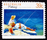 Postage stamp Australia 1989 Fishing, Sport and Recreation