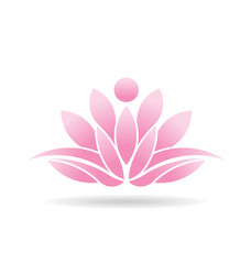 Vector Logo Lotus Person
