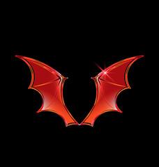 Vector Vampire Wings Logo Vector